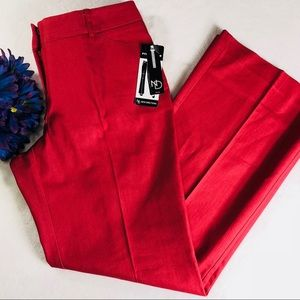 New Directions Petite Red Wide Leg Dress Pants